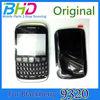 black for blackberry curve 9320 original full housing with lens front frame keyboard battery cover