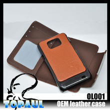 Customized deign 2 in1 leather removable magnet cover for samsung galaxy s2