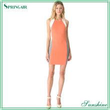 Orange Raised Knit Cocktail Dress