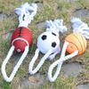 Football & Basketball with Rope Pet Toy
