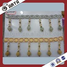 Velvet Beaded Fringe ,Decorative Beaded Fringe , Factory Fringe Lace Window Curtains