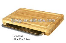 durable bamboo cutting board with drawer in chopping blocks