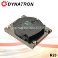 Dynatron r25 socket lga 2011 del disipador de calor de cobre lado- que sopla de aluminio de refrigeración del ventilador del ventilador 1u servidor refrigerador de la cpu