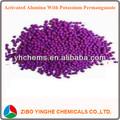 alumina ativada com permanganato de potássio para a absorção de etileno