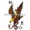 custom hawk impermeável tatuagem temporária