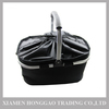 Black picnic/camping/shopping basket cooler bag with cover
