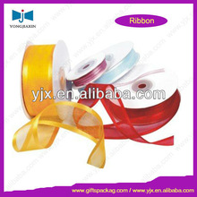 Lightness colorful and bright-coloured organza ribbon