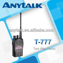 T-777 vhf uhf fm transceiver with 1200mAh Li-ion battery