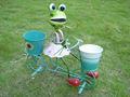 De haute qualité grenouille animal pot de fleur en métal design, décor de jardin