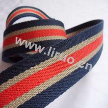 Striped 1.25 Cotton Webbing
