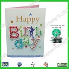 Fancy paper decorating new born baby card music ic chip for birthday greeting cards