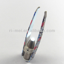 colorful electric led eyelash extension tweezers