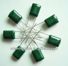 2013 Green color Polypropylene film capacitors Wholesaler