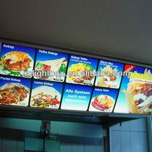high quality fast food slim light box restaurant menu board