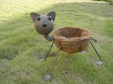 Metal Garden Decoration,Garden,Cat basket
