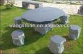 Pedra de granito mesa redonda& cadeiras