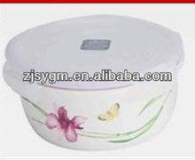 Ceramic bowl with lid, 760ml