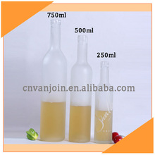 250ml 500ml 750ml Frosted Glass Bottle For Beach Drink Holders
