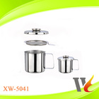 Stainless Steel Oil Pot/oil cup/ oil drain cup with Filtering Strainer 201