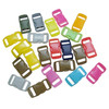 3/8'' curved colorful plastic safety buckle