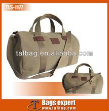 Simple fashion twill cotton fabric travel bag 2013