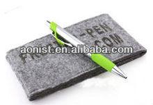 ECO Mini Deluxe Vinyl Felt Pen Sleeve Black Velvet Sleeve Case For Pen