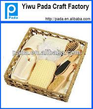 Fashion Wooden Basket SPA Accessories Set