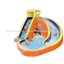 Hot inflatable swimming pool with slide