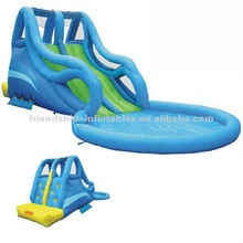 Sell Best Commercial Inflatable Giant Slide with swimming pool