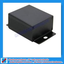 Black OEM PCB Aluminium Enclosure with wall mount 64x23.5x65 mm (w*h*l)