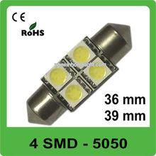 4 SMD 36mm car led light Licence Plate lights