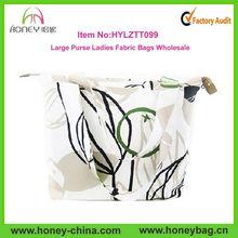 Beige White Large Purse Ladies Fabric Bags Wholesale