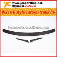 For 2009 Mercedes Benz CL class W216 B style carbon fiber rear trunk spoiler lip