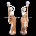 donna statua di pietra sculture da giardino luce
