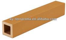 yellow terracotta louver exterior building material
