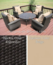 NEW DESIGN!5pc All Weather Resin Wicker cheap aluminum chairs