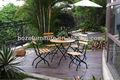 de alta calidad de hierro ligero plegable al aire libre sillas de comedor y mesa de juego