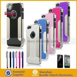 Brushed metal aluminum hard case for iphone 5, hot items brushed metal case for iphone, hard case for iphone 5
