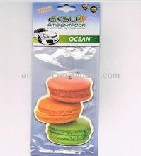 cheap paper Car Freshener, Ice cream shape Custom air freshener for promotion