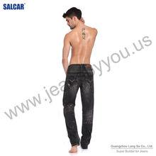 Male's Original Design Black Jeans with Paillettes guangzhou orient way garment co. ltd