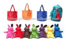 Rabbit Animal Nylon Foldable Resual Shopping Pouch Bag