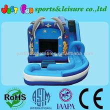 dolphin Undersea N splash inflatable jumper slide