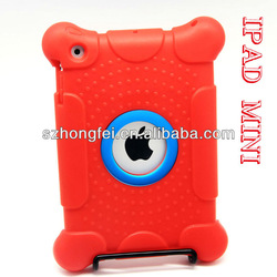 OEM new design two color mix rubber silicone kids case for ipad