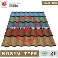 3- coloridos de pedra revestida de metal telhas do telhado, pedra revestida de aço, alumínio e zinco de aço da telha de telhado