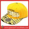 gold yellow fashion sublimation denim trucker cap hat flat brim golf cap