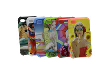 2 in 1 3D silicone Sublimation Phone Cases for iPhone5
