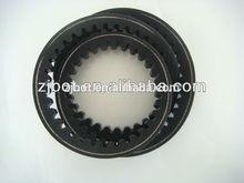raw edge cogged v belt A28 13X710LI for car part