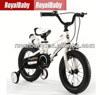 2014 hot selling Royalbaby white kid bikes with steel frames and watter bottle