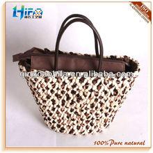 HIFA Leopard Corn Husk Straw Bags