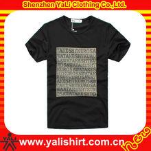 2014 fashion breathable short sleeve print men black vintage t shirts price cheapest